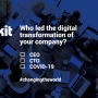 Who led the digital transformation of your company?